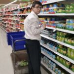 "BRACE student ""Lachlan Simmie"" during his work placement at ""Coles"""